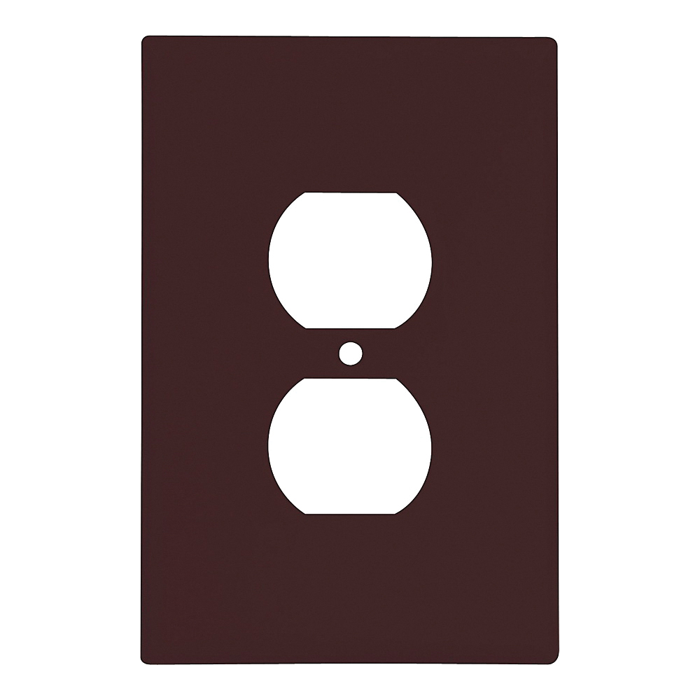 Picture of Eaton Wiring Devices 2142B-BOX Duplex Receptacle Wallplate, 5-1/4 in L, 3-1/2 in W, 1-Gang, Thermoset, Brown