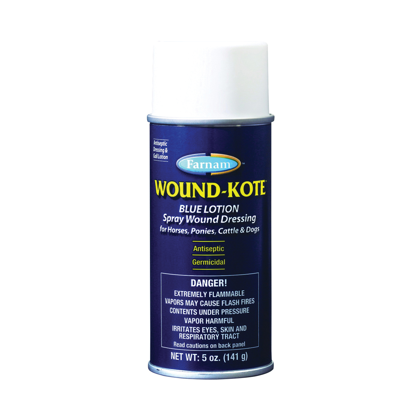 Picture of Farnam Wound-Kote 30401 Lotion Spray Wound Dressing Blue, Lotion, Blue, 5 oz Package