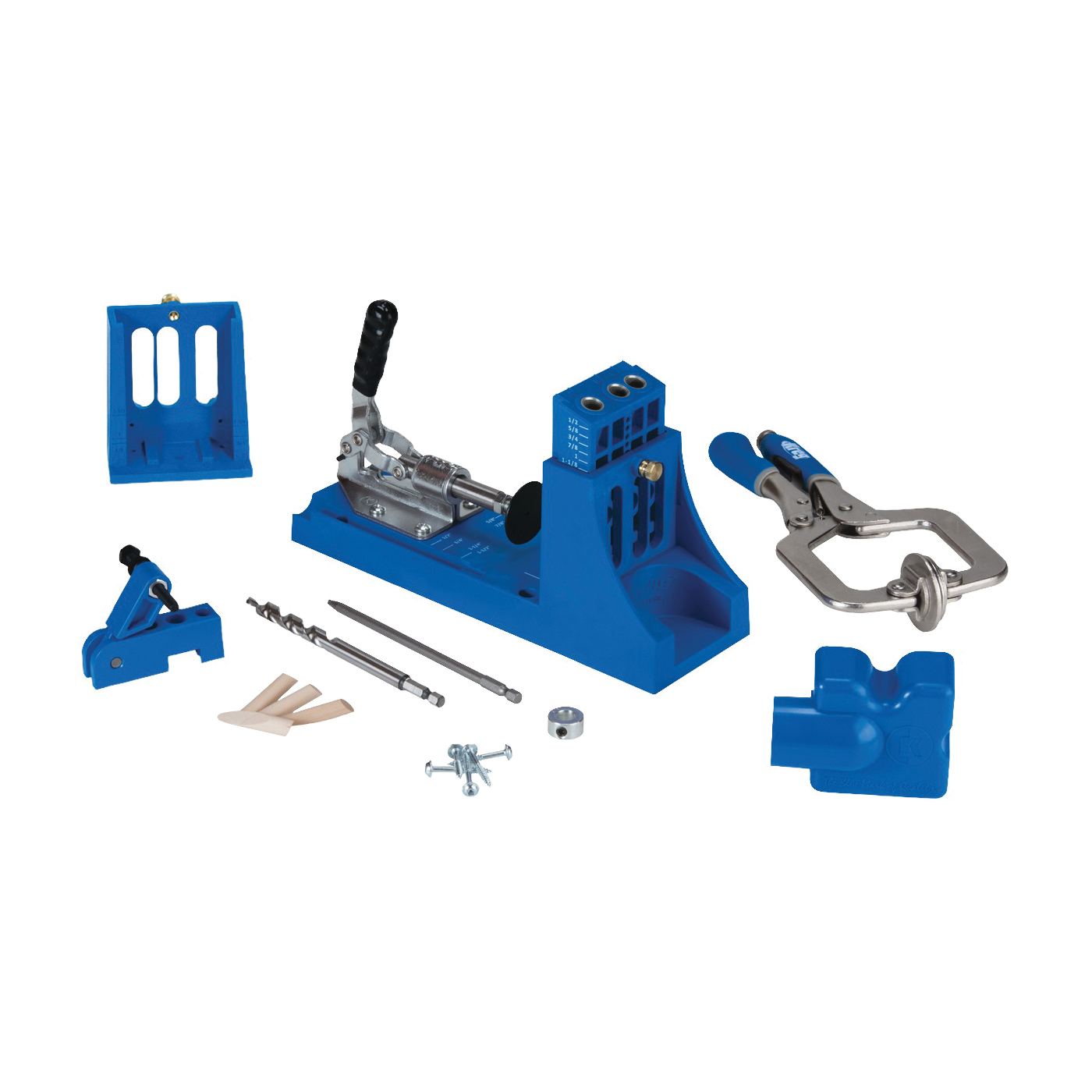 Picture of Kreg K4MS Pocket-Hole Jig, 3 -Guide Hole, Glass Filled Nylon, For: 1/2 to 1-1/2 in Thick Materials