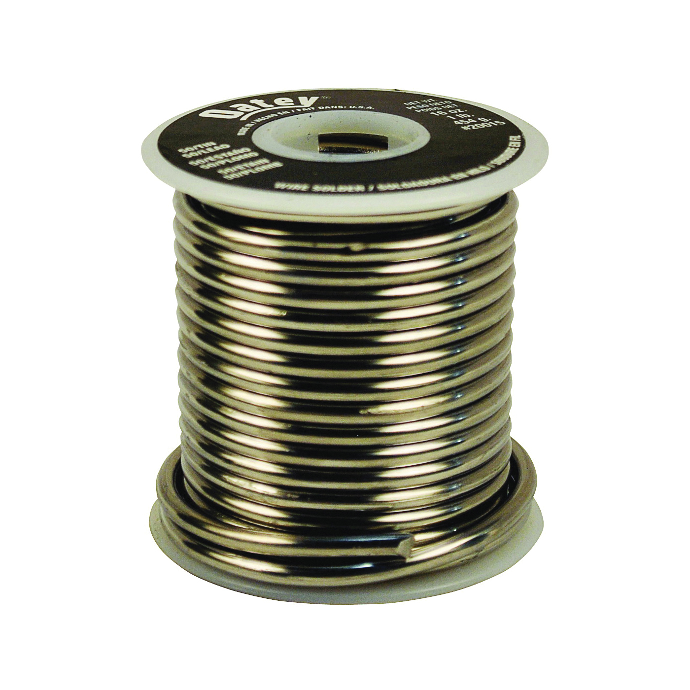Picture of Oatey 20015 Leaded Solder, 1 lb Package, Solid, Silver, 361 to 421 deg F Melting Point