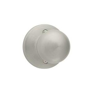 Picture of Kwikset 488P 15 CP Dummy Door Knob, 1-7/8 in Dia Knob, Satin Nickel