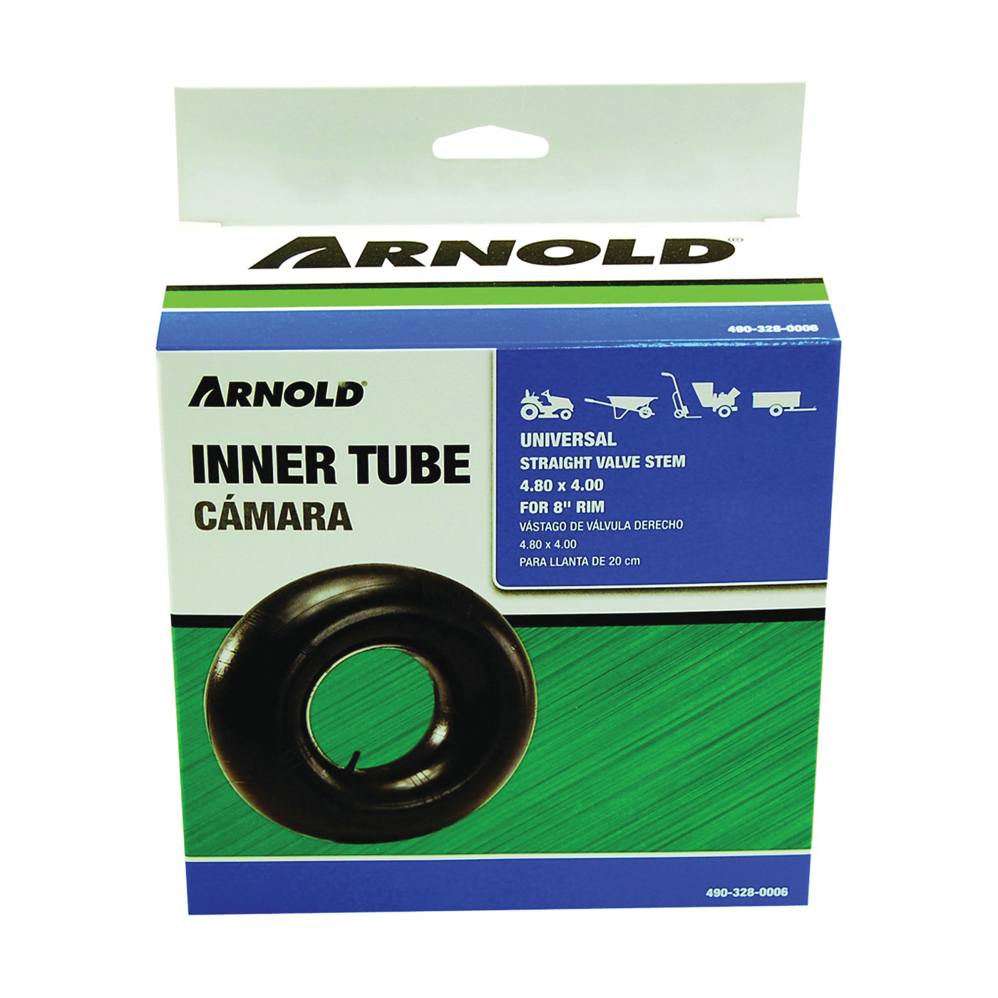 Picture of ARNOLD 490-328-0006 Wheelbarrow Inner Tube, 16 in, For: 8 in Rim, 4.80 x 4 in Tire