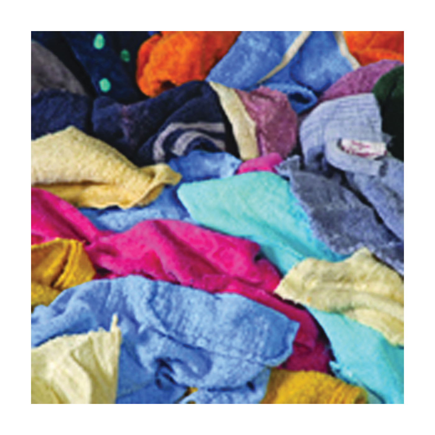 Picture of ALL RAGS R401 Terry Cloth Mix, 14 in L, 14 in W, Cotton, 5