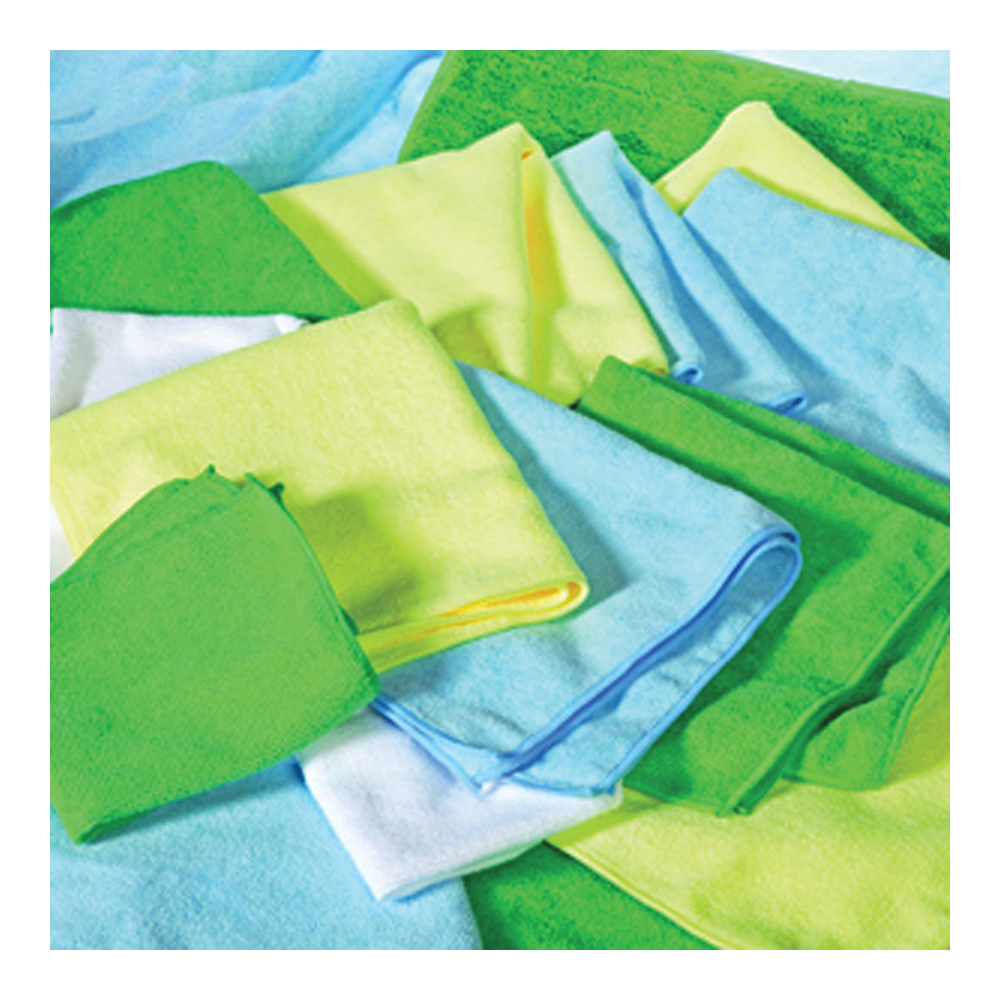 Picture of ALL RAGS MFMP12BL Wiping Cloth, 12 in L, 12 in W, Microfiber Cloth