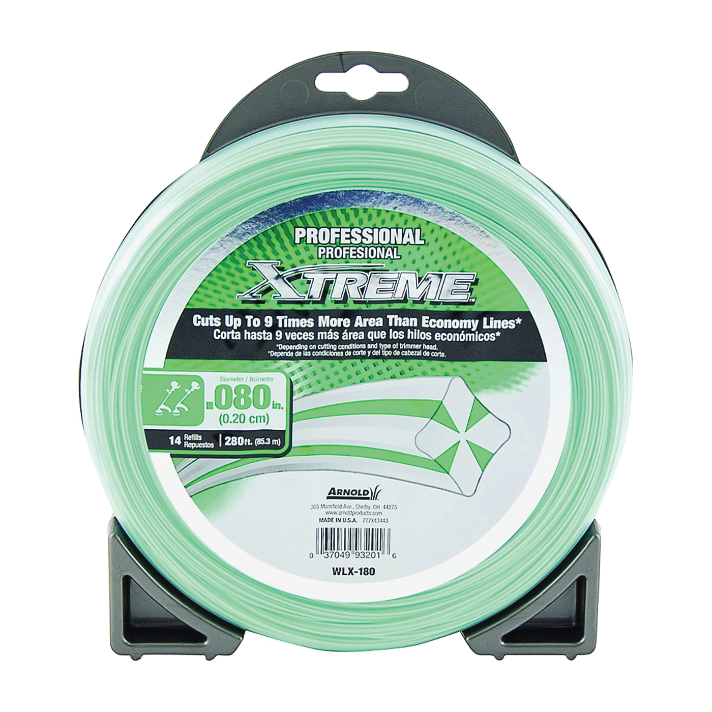 Picture of Arnold Xtreme Professional WLX-180 Trimmer Line, 0.08 in Dia, 280 ft L, Monofilament