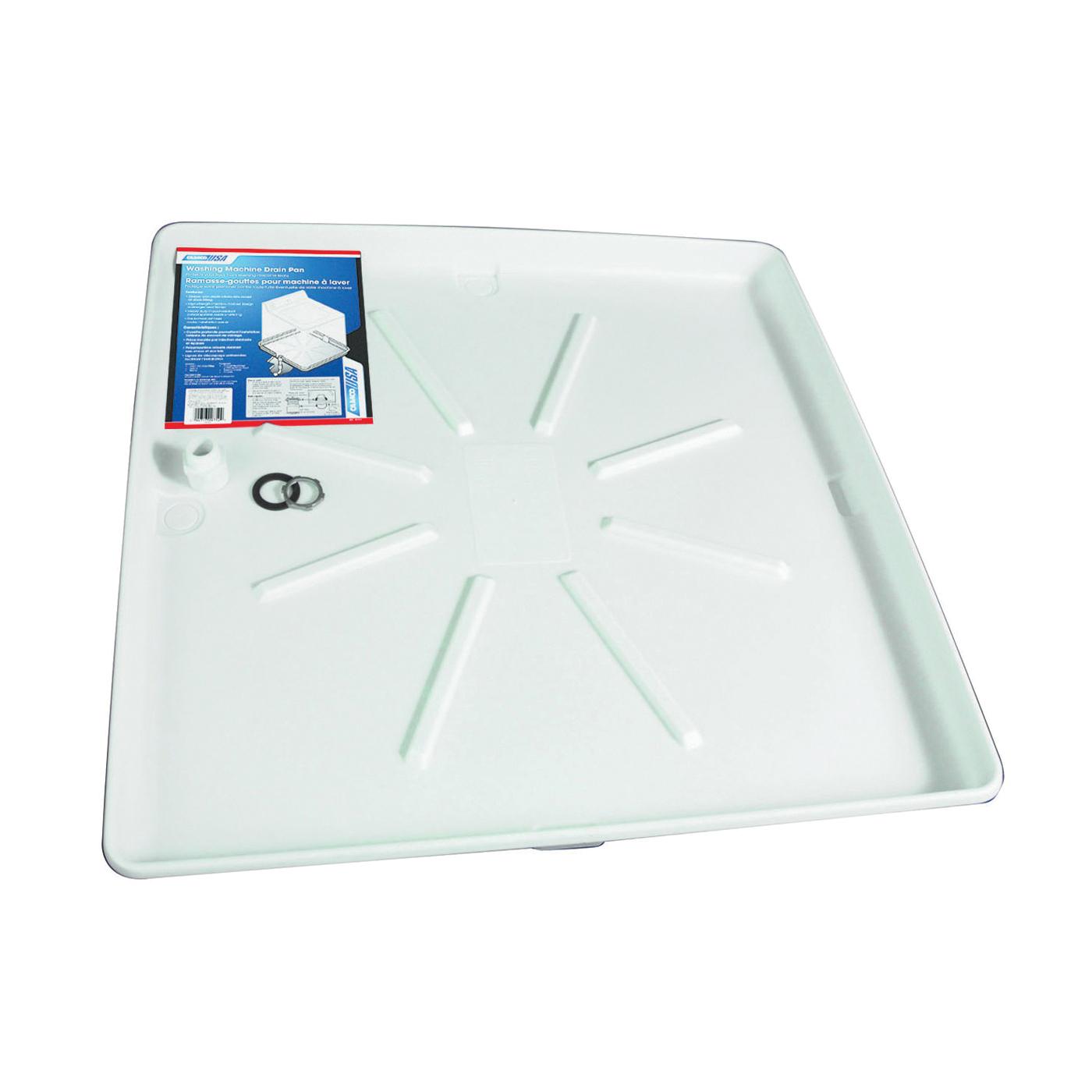 Picture of CAMCO 20752 Washing Machine Drain Pan, Polypropylene, White, Matte