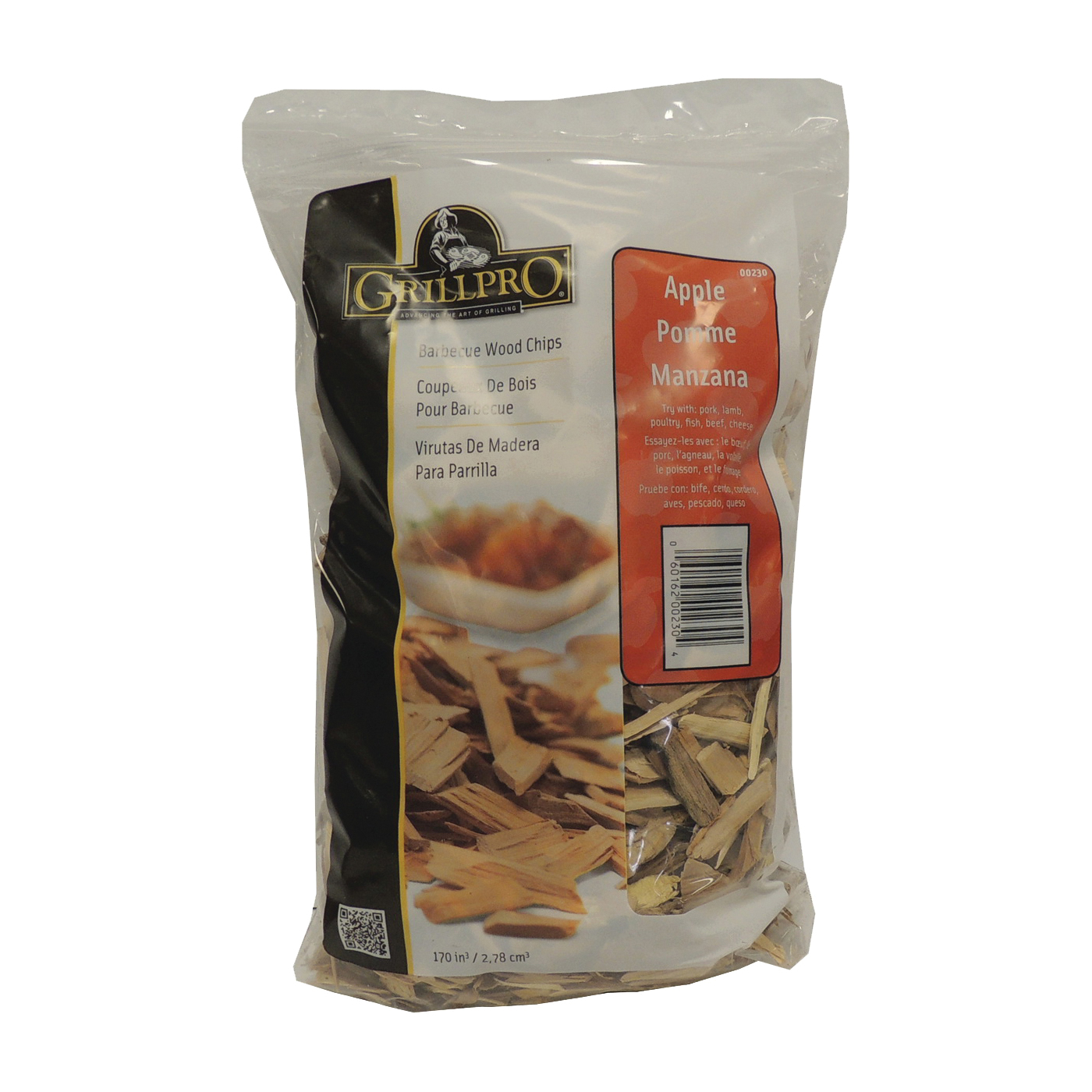 Picture of GrillPro 230 Apple Wood Chips, Wood, 2 lb Package, Bag