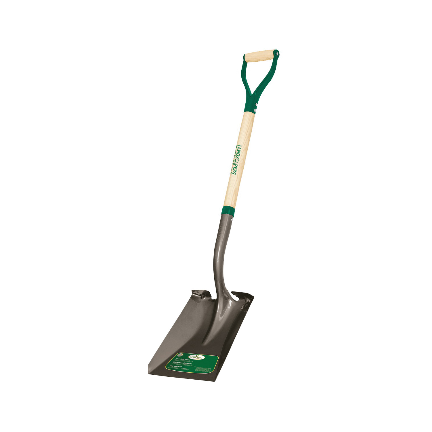 Picture of Landscapers Select 34594 Transfer Shovel, Steel Blade, Wood Handle, D-Shaped Handle, 30 in L Handle