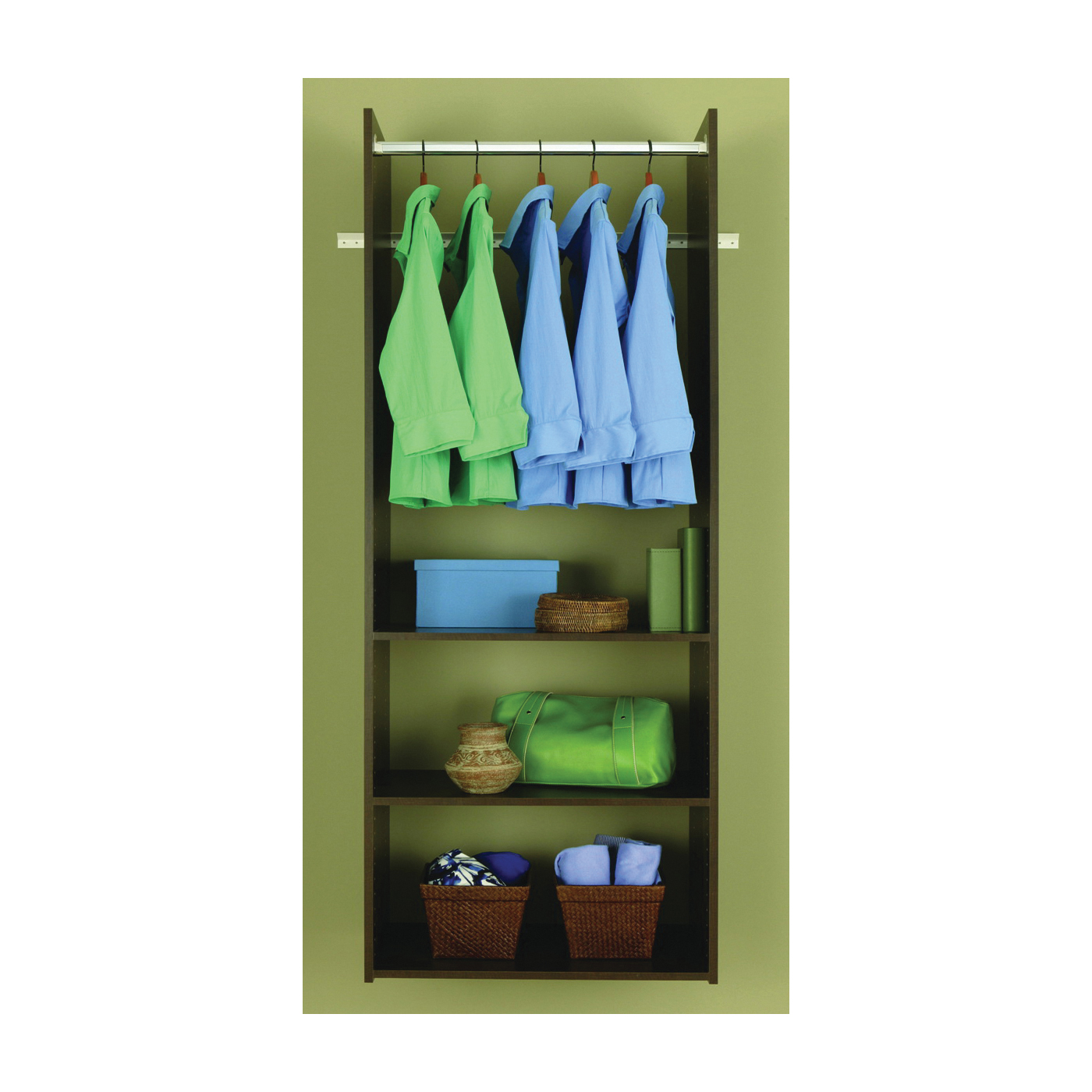 Picture of Easy Track RV1472-T Tower Closet, 5/8 in W, 72 in H, 3-Shelf