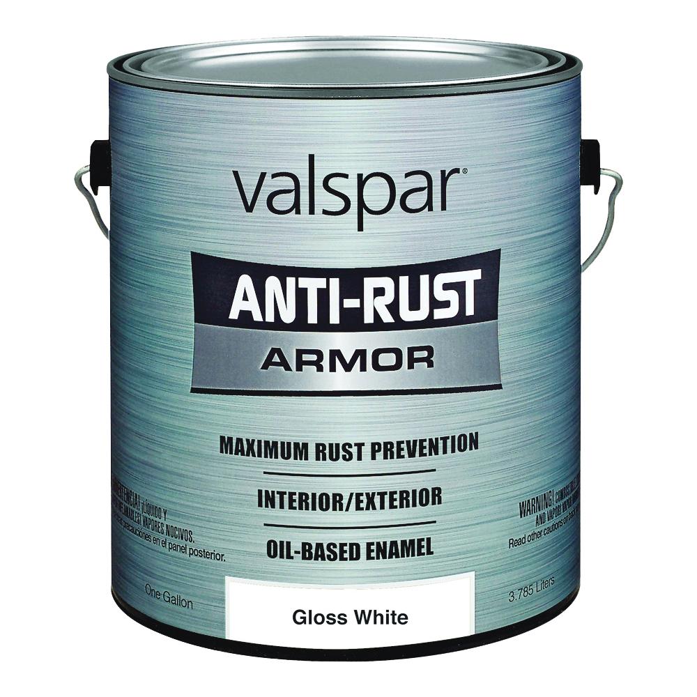 Picture of Valspar 21800 Anti-Rust Armor Oil Gloss Enamel, Gloss, White, 1 gal
