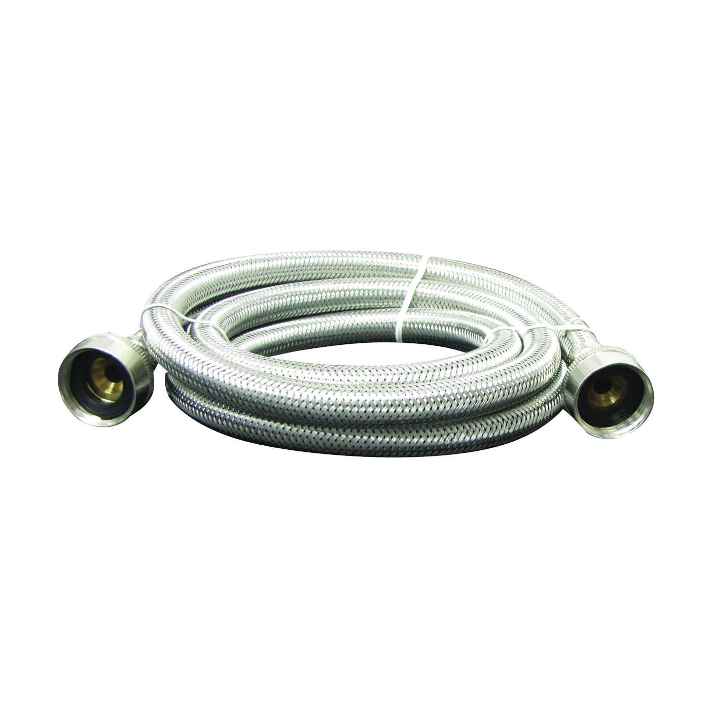 Picture of Plumb Pak PP22816 Washing Machine Hose, 6 ft L, FGH x FGH, Stainless Steel
