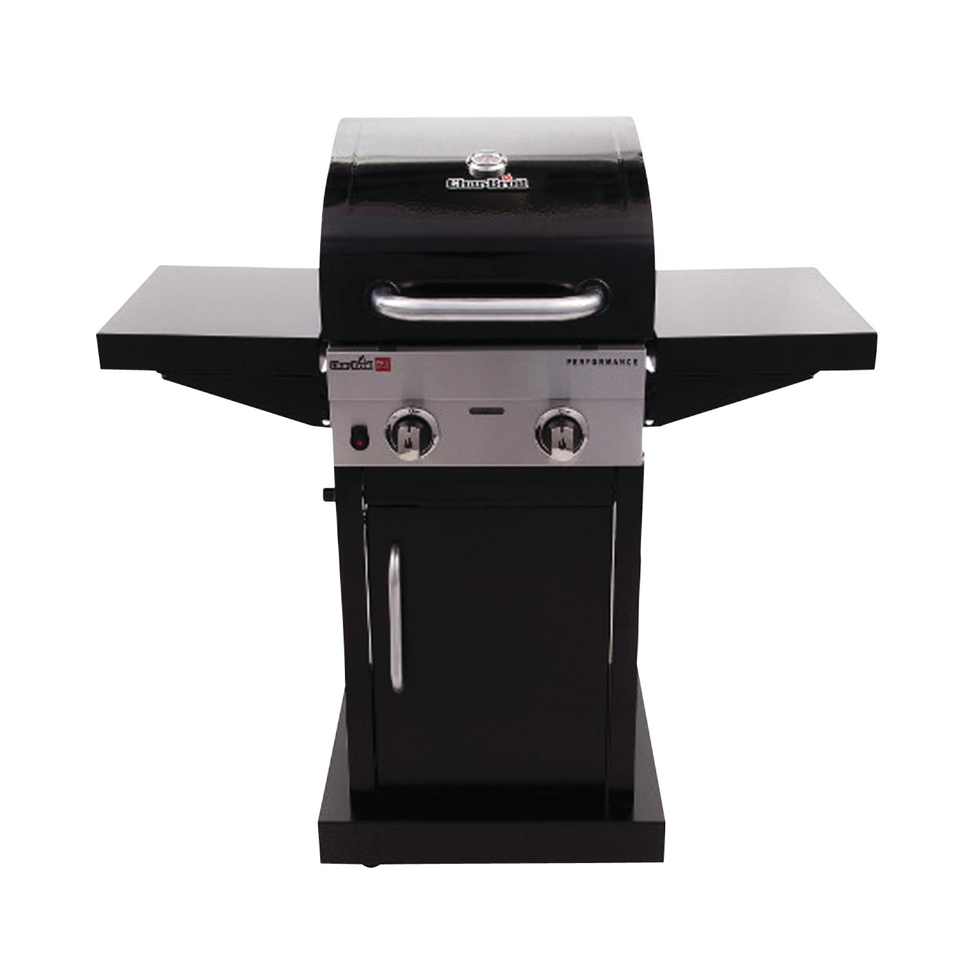 Picture of Char-Broil 463672016 Performance Gas Grill, 18,000 Btu BTU, Liquid Propane, 2 -Burner, Stainless Steel Body, Black