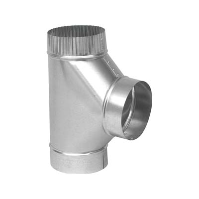 Picture of Imperial GV0883-A Stove Pipe Tee, 4 in, 26 ga Thick Wall, Steel, Galvanized