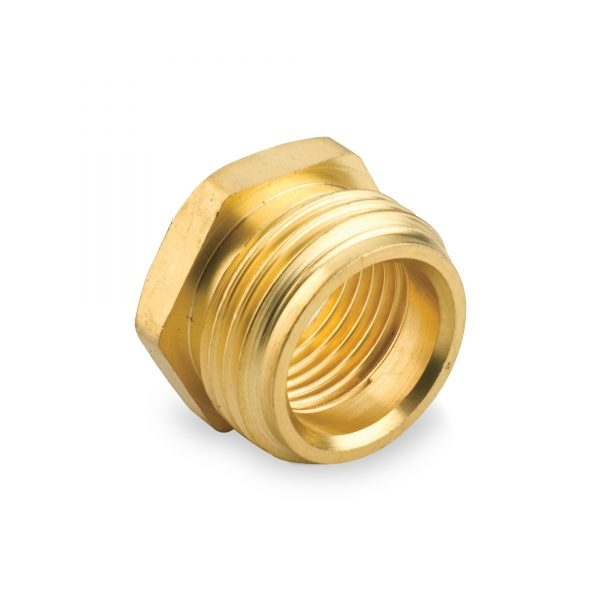 Picture of Gilmour 807054-1001 Hose Adapter, 3/4 x 1/2 in, MNH x FNPT, Brass, For: Garden Hose