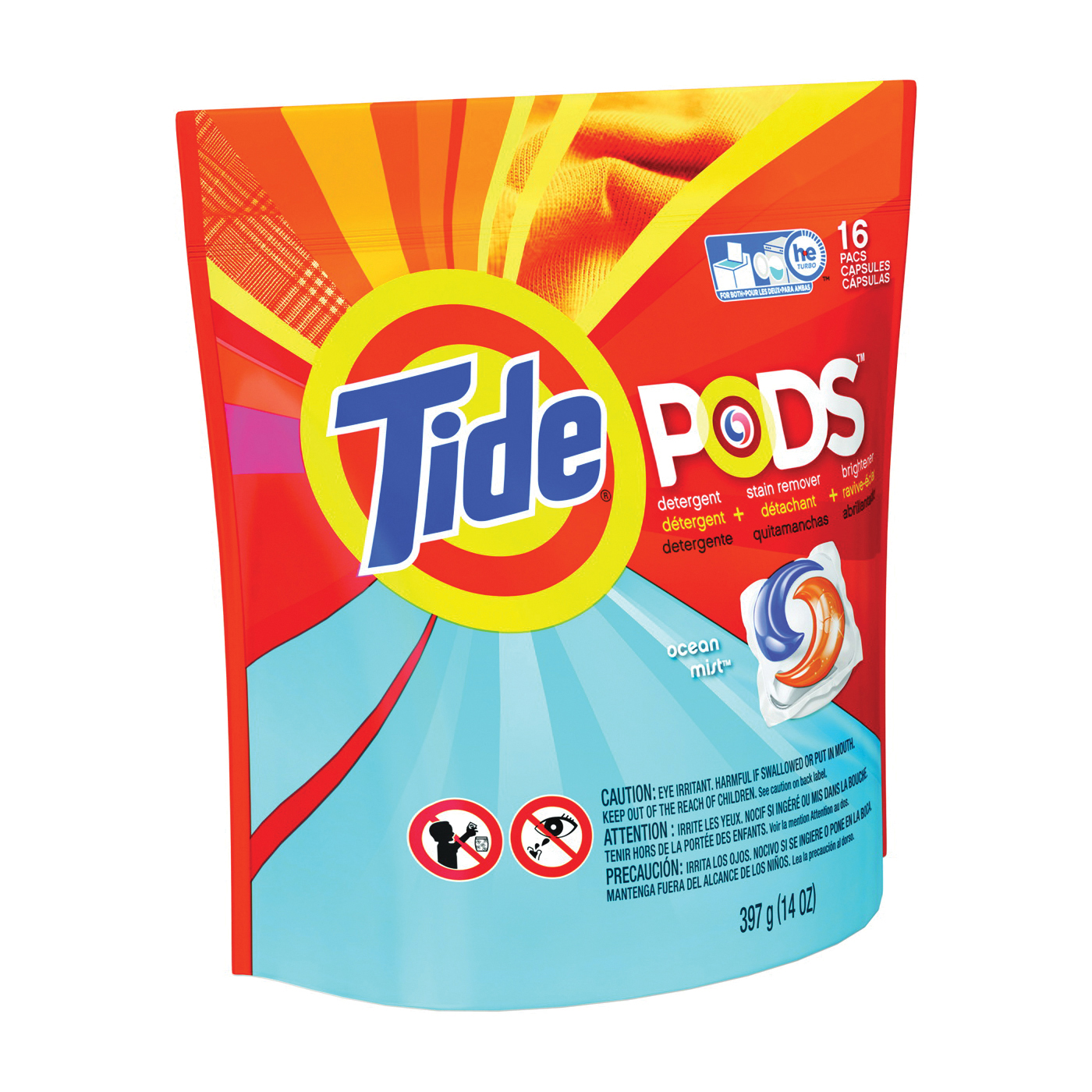 Picture of Tide 93119 Laundry Detergent, 16 CT, Powder, Ocean Mist