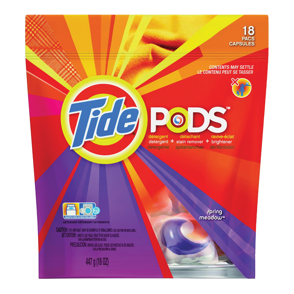 Picture of Tide 93120 Laundry Detergent, 16 CT, Liquid, Spring Meadow