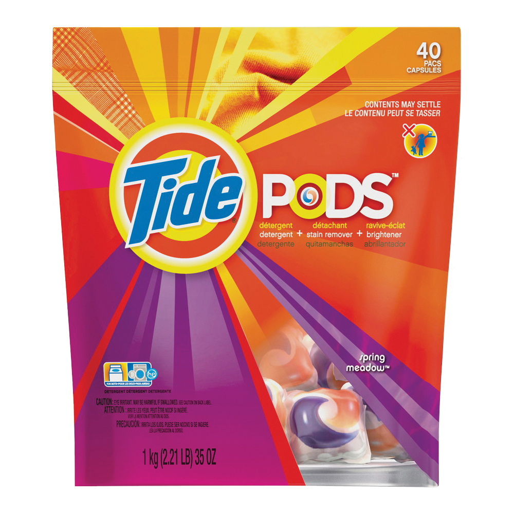 Picture of Tide 93127 Laundry Detergent, 35 CT, Liquid, Spring Meadow
