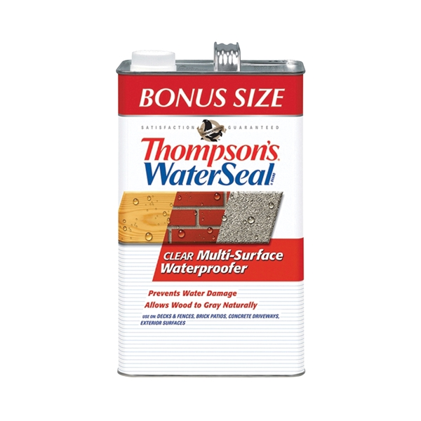 Picture of Thompson's WaterSeal TH.024111-03 Waterproofer, Clear, 1.2 gal, Can