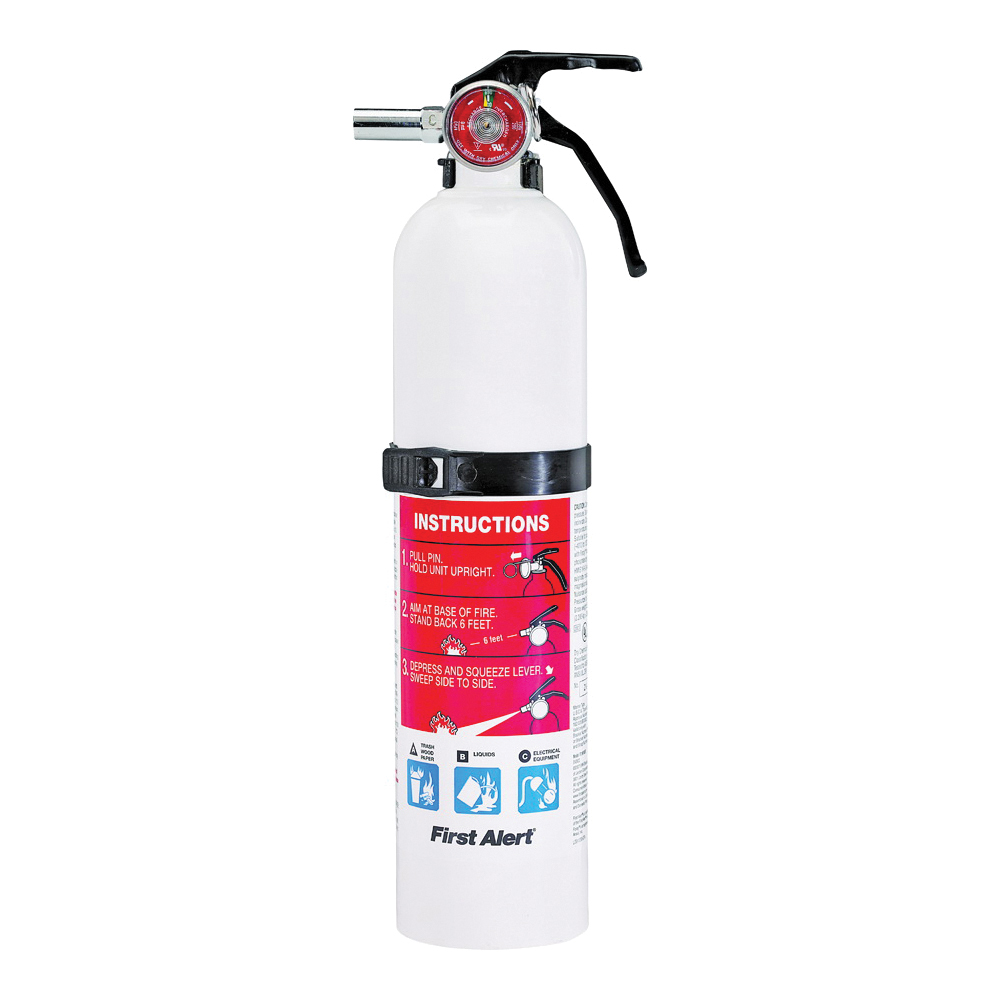 Picture of BRK MARINE1 Rechargeable Fire Extinguisher, 2.5 lb Capacity, Monoammonium Phosphate, 1-A:10-B:C Class