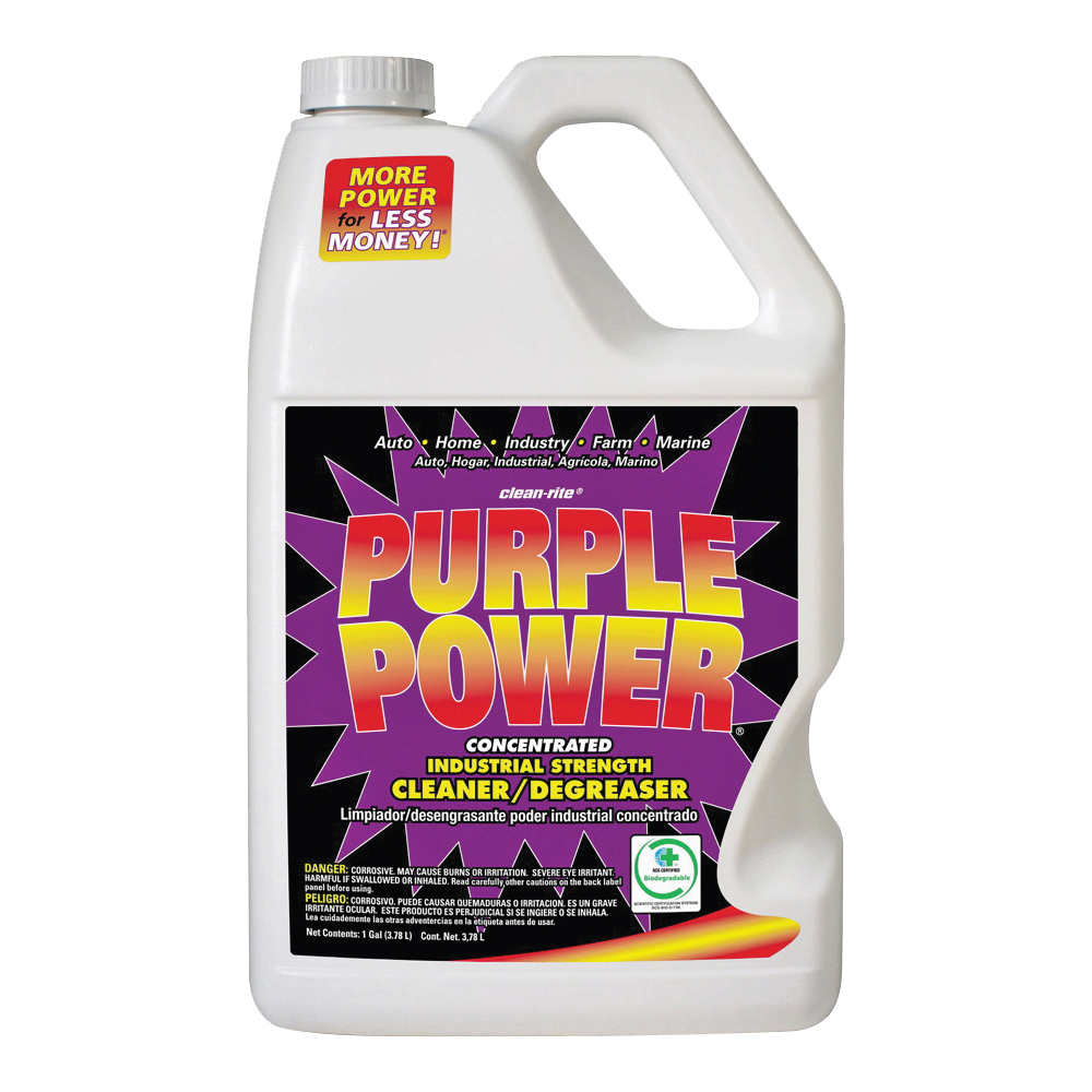 Picture of Purple Power 4320P Cleaner/Degreaser, 1 gal Package, Bottle, Liquid, Characteristic