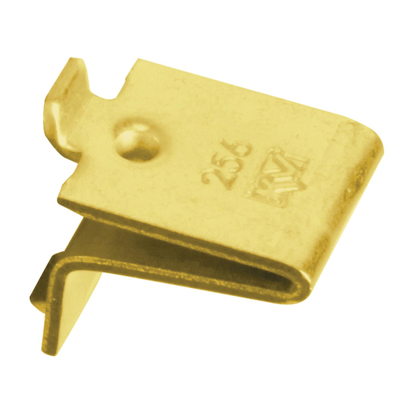 Picture of Knape & Vogt 256 BR Pilaster Shelf Support Clip, Adjustable, Steel, 100, Mortise Mounting