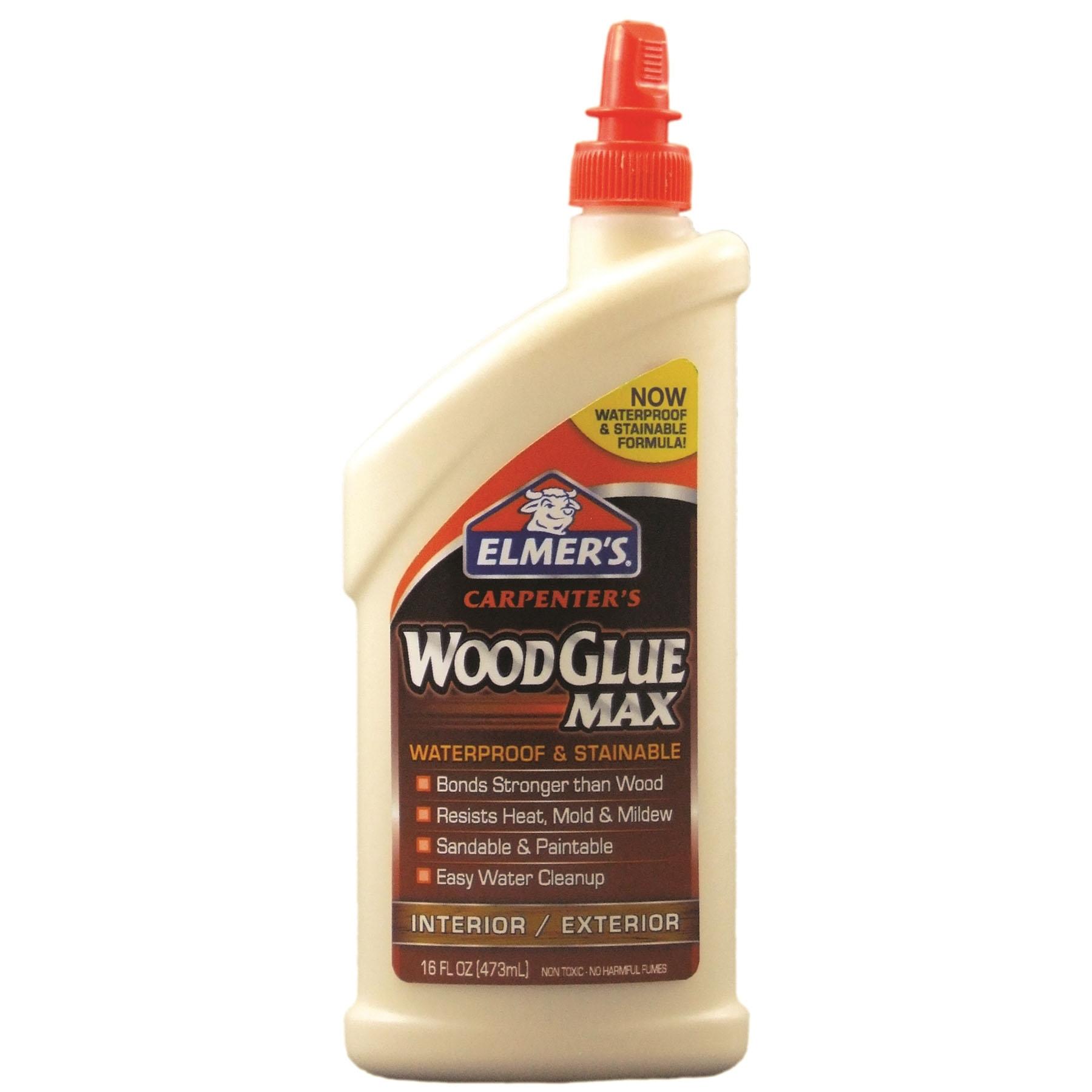 Picture of Elmers Carpenter's Max E7310 Wood Glue, Beige, 16 oz Package, Bottle