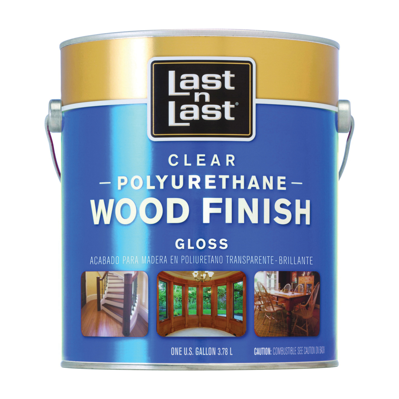 Picture of Last n Last 53501 Polyurethane Wood Finish, Gloss, Liquid, Clear, 1 gal, Can