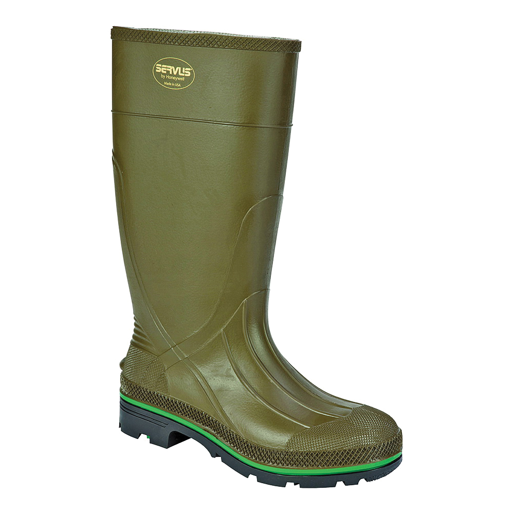 Picture of Servus Northener 75120-10 Non-Insulated Work Boots, 10, Brown/Green/Olive, PVC Upper, No