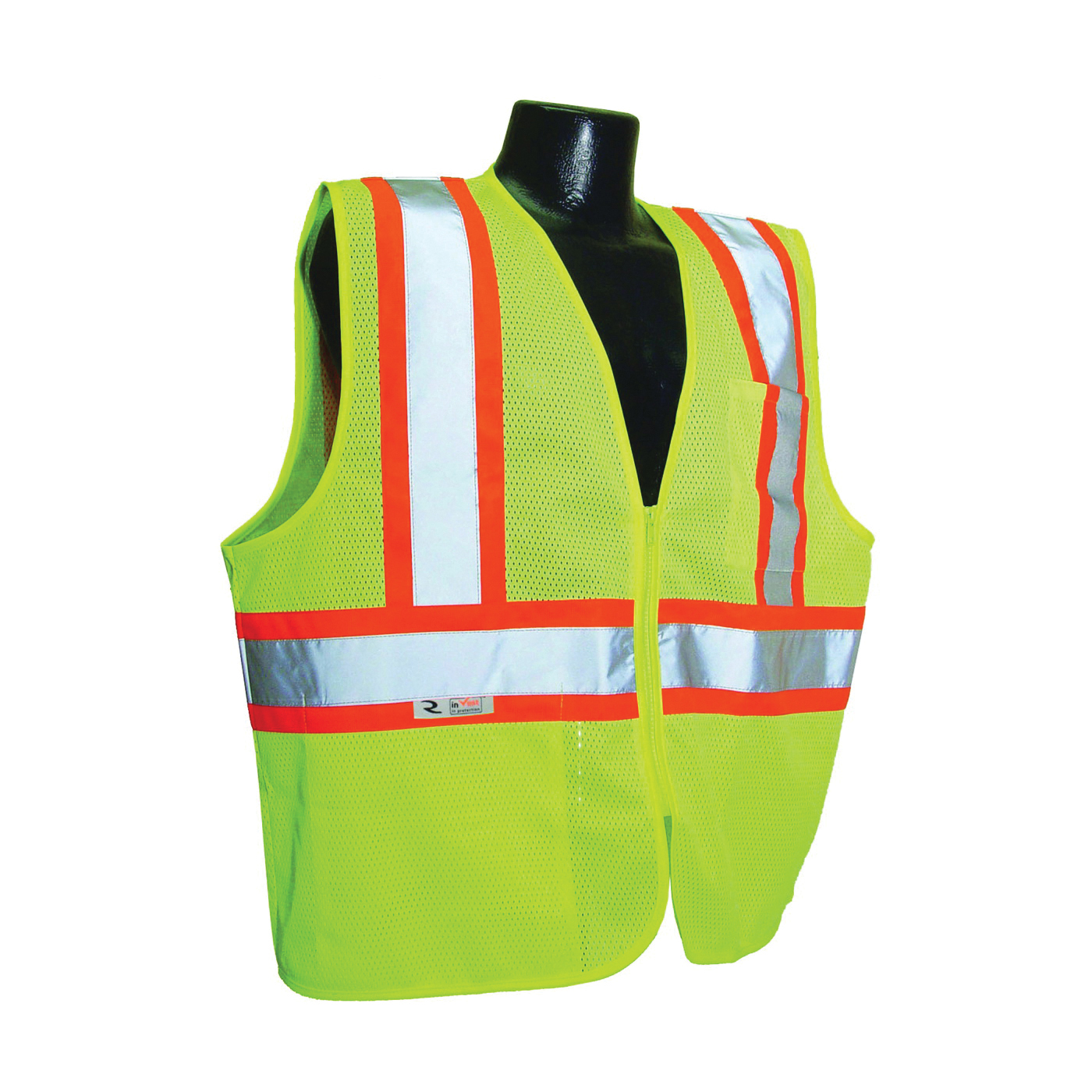 Picture of RADWEAR SV22-2ZGM-2X Safety Vest, 2XL, Unisex, Fits to Chest Size: 30 in, Polyester, Green, Zipper Closure
