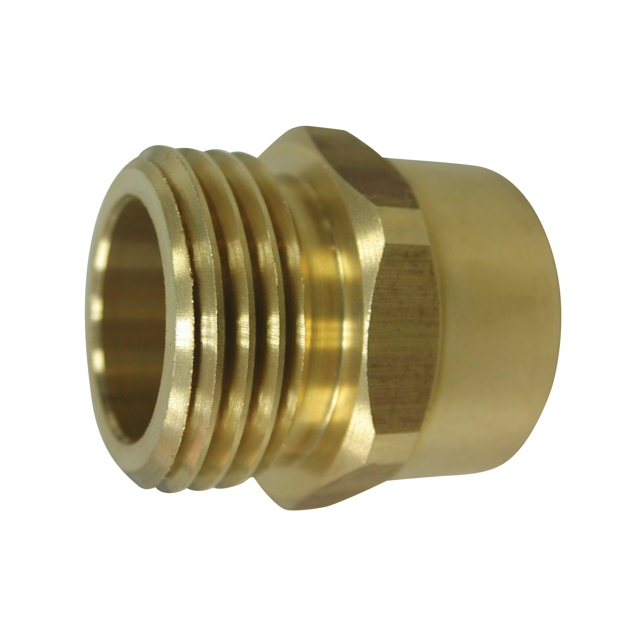 Picture of Landscapers Select PMB-468-3L Hose to Pipe Connector, 3/4 x 3/4, MHT x FIP, Brass, Brass, For: Garden Hose