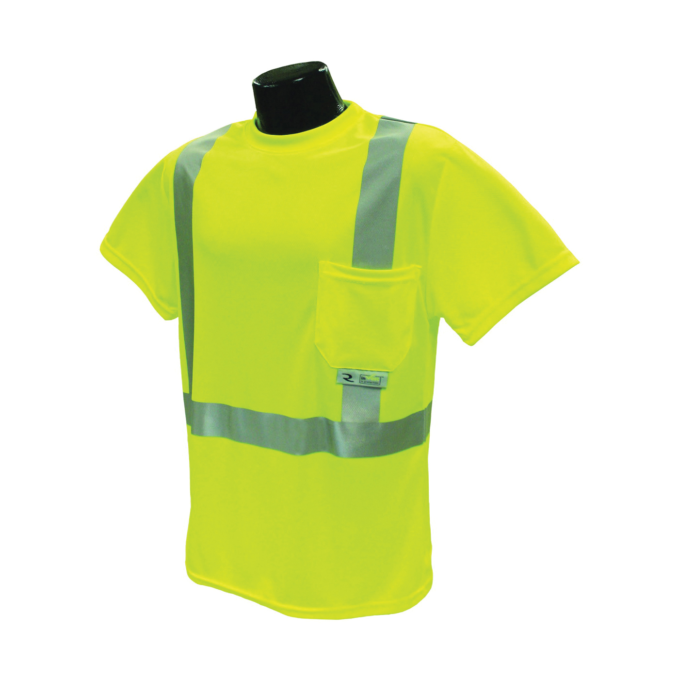 Picture of RADWEAR ST11-2PGS-2X Safety T-Shirt, 2XL, Polyester, Green, Short Sleeve, Pullover Closure