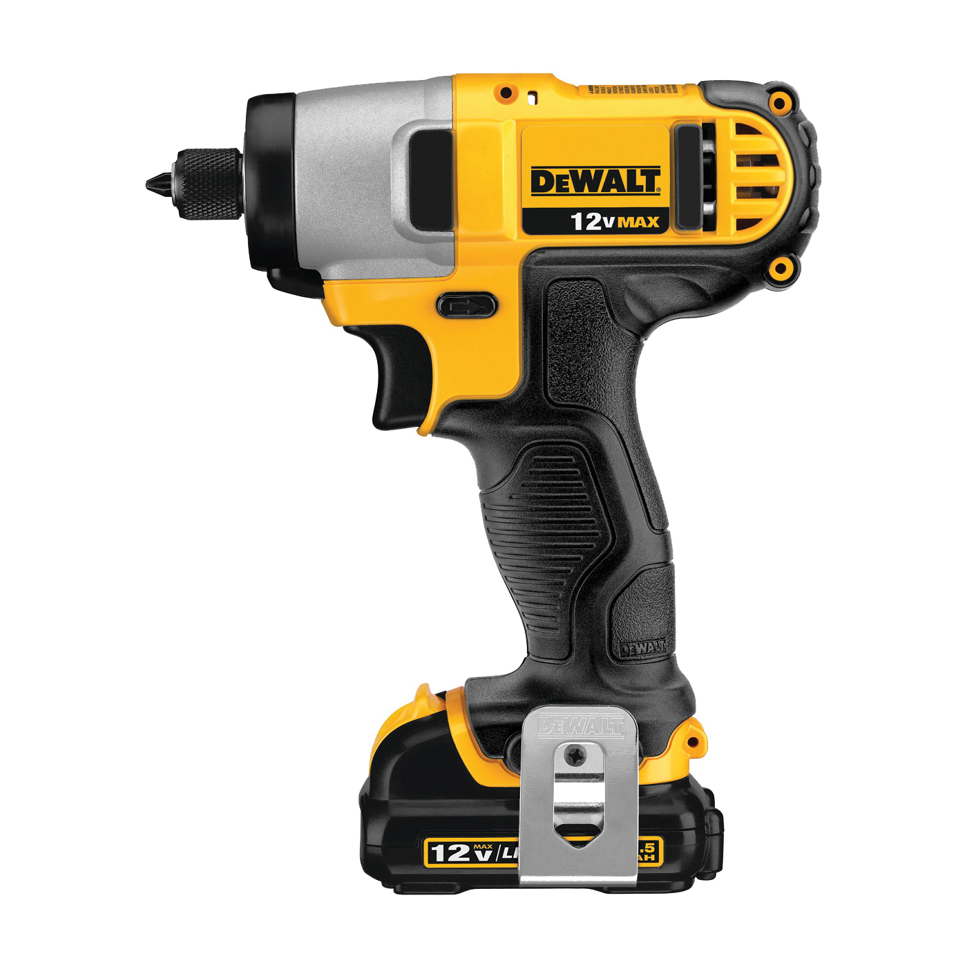 Picture of DeWALT DCF815S2 Impact Driver Kit, Kit, 12 V Battery, 1.3 Ah, 1/4 in Drive, Hex Drive, 3400 ipm IPM