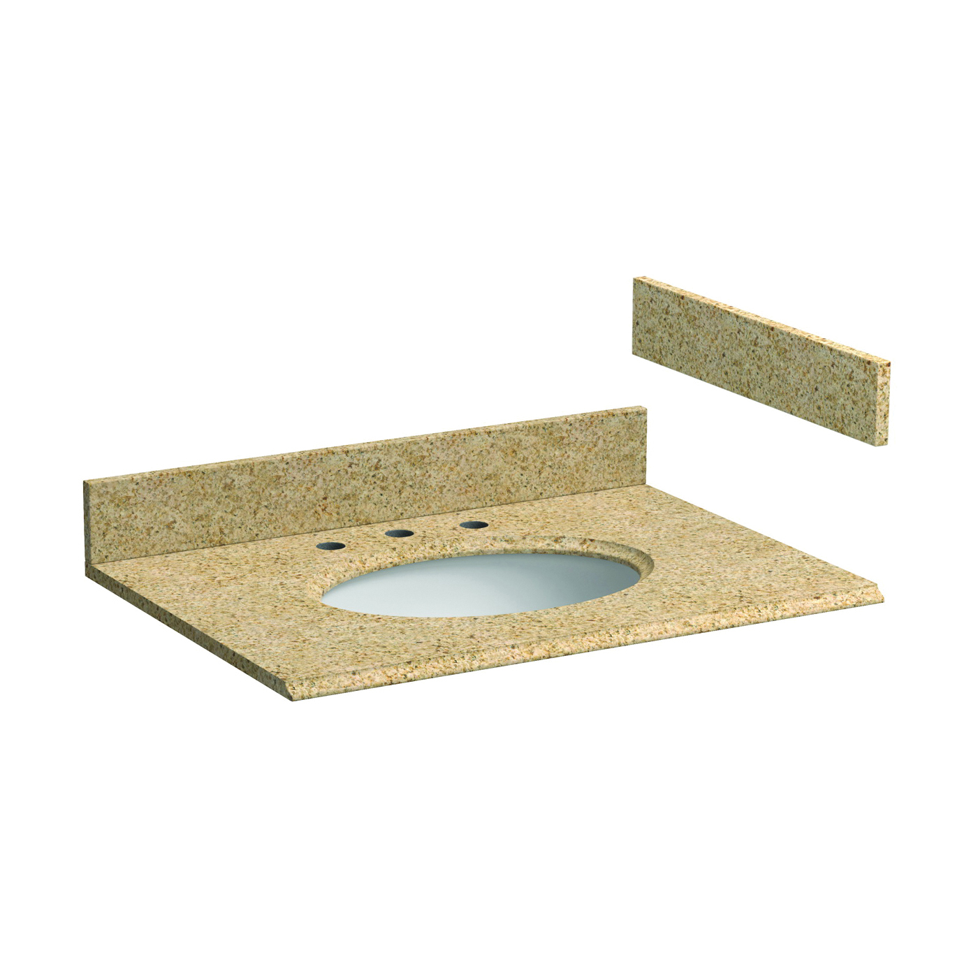 Picture of Foremost HG31228MB Vanity Top, 8-5/8 in OAL, 31 in OAW, Granite, Mojave Beige, Oval Bowl