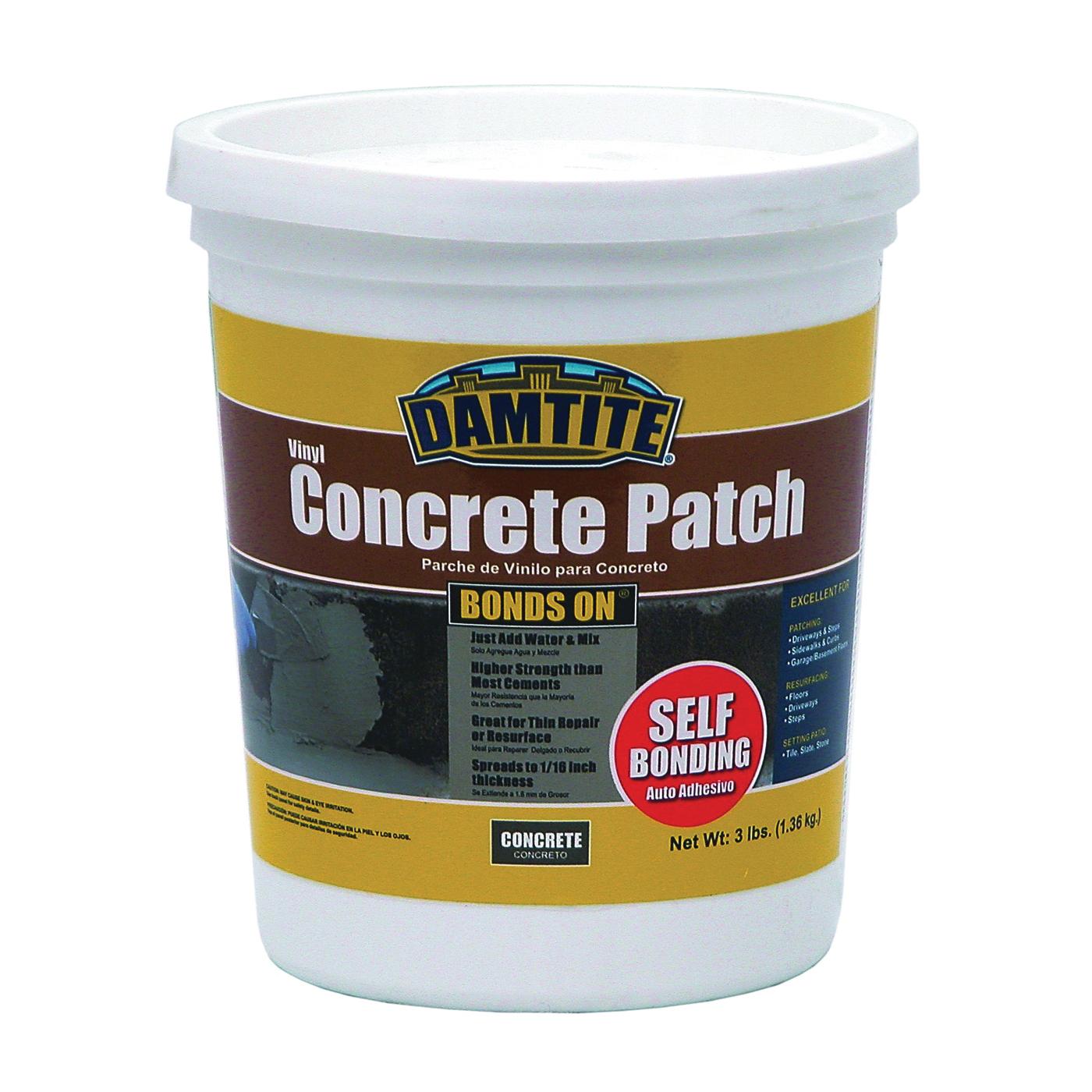 Picture of DAMTITE 04003 Vinyl Concrete Patch, Gray, 3 lb Package, Pail