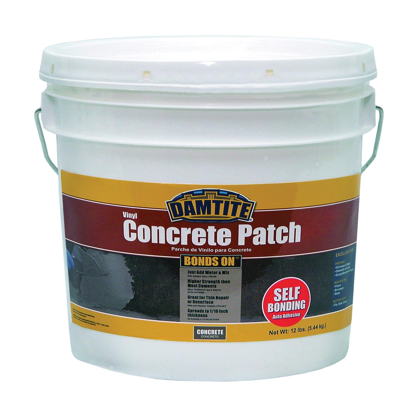 Picture of DAMTITE 04012 Vinyl Concrete Patch, Gray, 12 lb Package, Pail