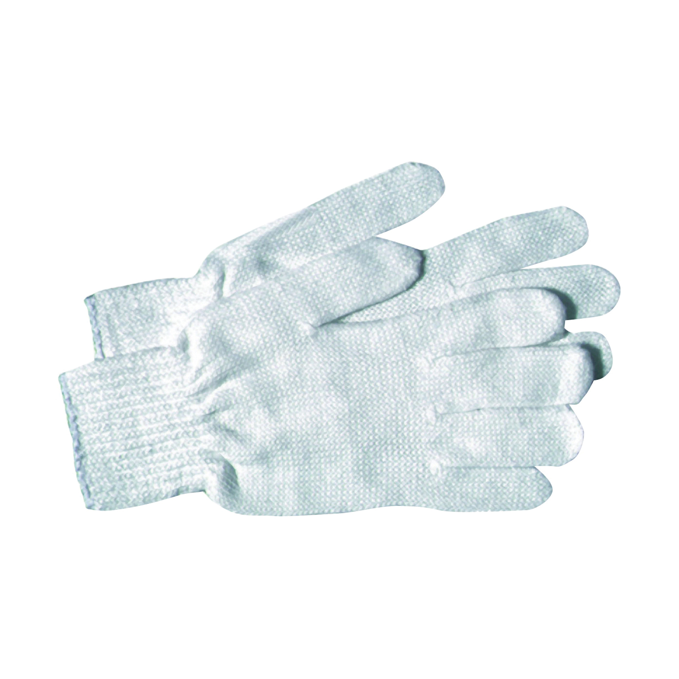 Picture of BOSS 300WL Bleached Reversible Protective Gloves, Men's, L, Knit Wrist Cuff, Cotton/Polyester, White
