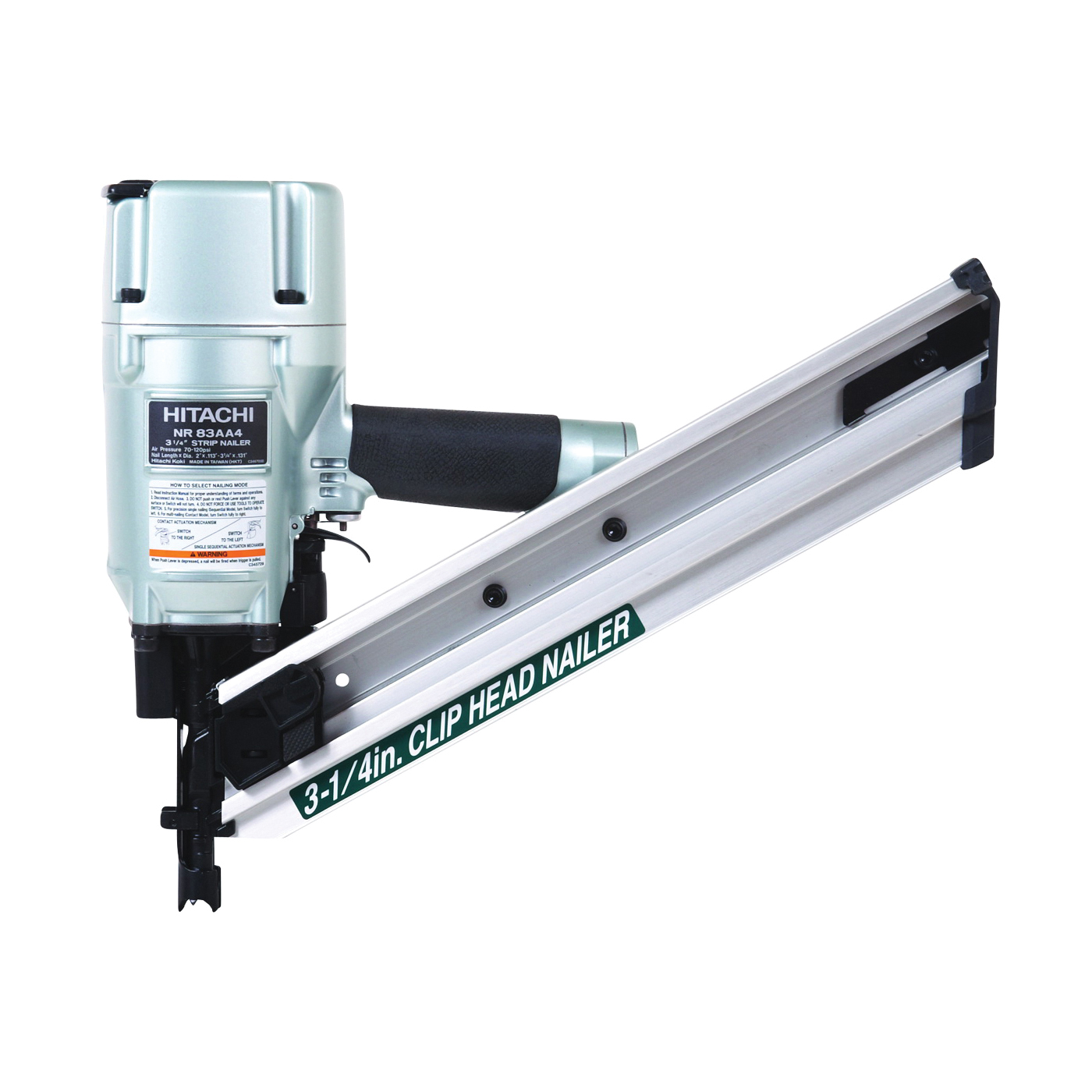 Picture of HITACHI NR83AA4 Framing Nailer, 86 to 94 Magazine, 34 deg Collation, Paper Tape Collation, 0.088 cu-ft/Cycle Air