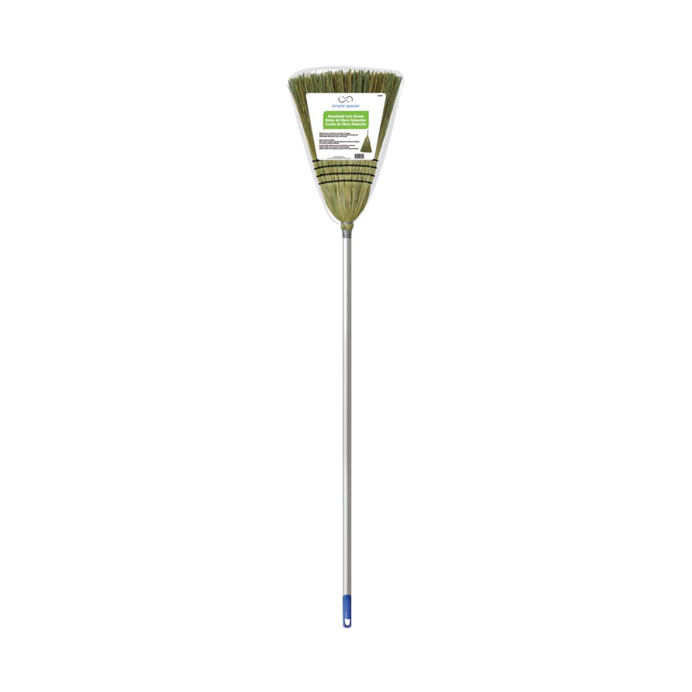 Picture of Simple Spaces 105 Household Broom, Fiber Bristle, Metal Handle