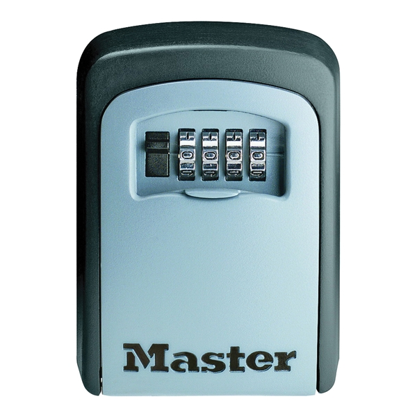 Picture of Master Lock 5401D Combination Wall Lock Box, Metal/Steel, 3-1/4 in W, 4-3/4 in H, 1-1/2 in D