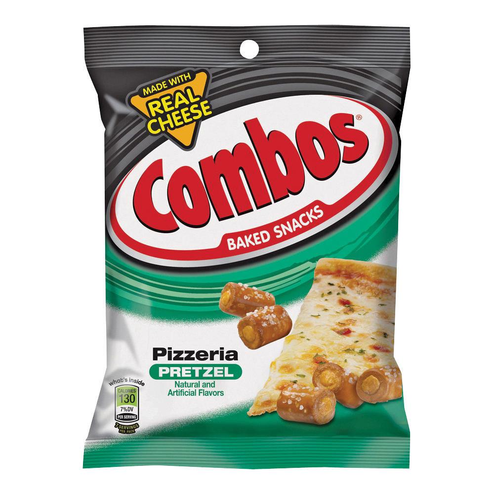 Picture of Combos PPC12 Baked Snacks, Pizeria Pretzel Flavor, 6.3 oz Package