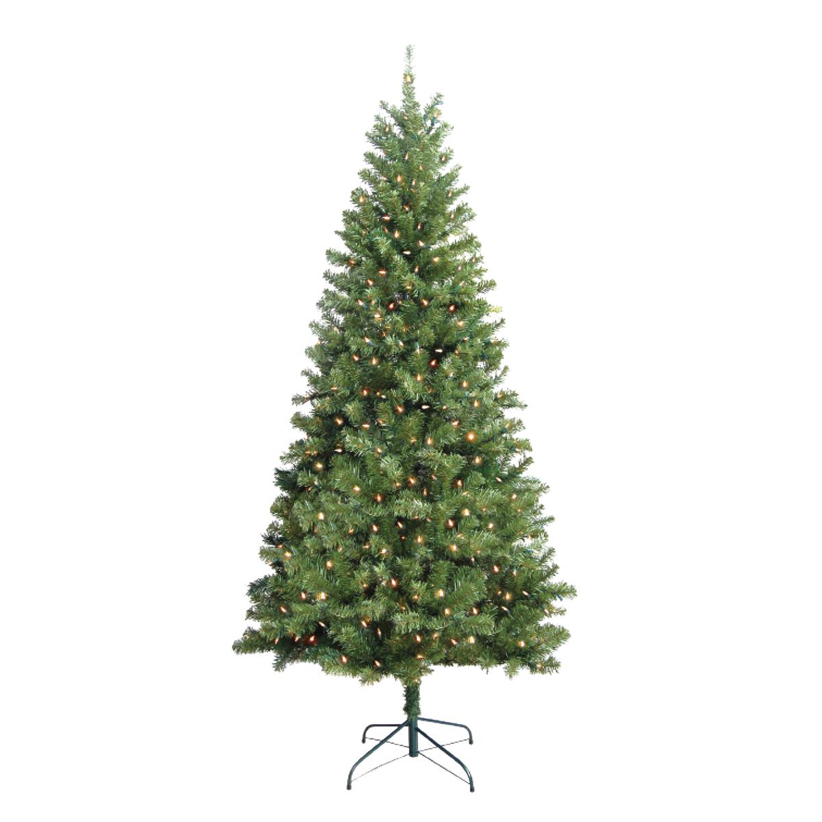 Picture of Santas Forest 10770 Christmas Tree, 7 ft H, Douglas Family, 110 V, Mini Bulb, Clear Light