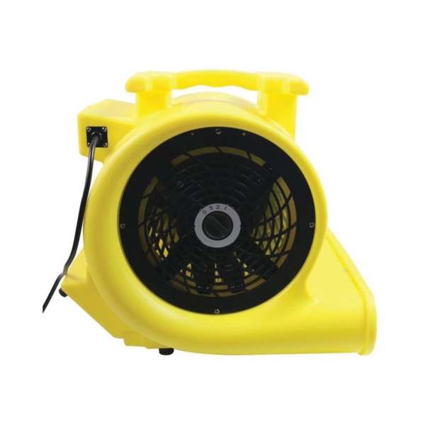 Picture of MaxxAir HVCF 4000 Floor Drying Fan, 120 V, 2500 cfm Low, 3300 cfm Medium, 4000 cfm High Air, Plastic, Black/Yellow