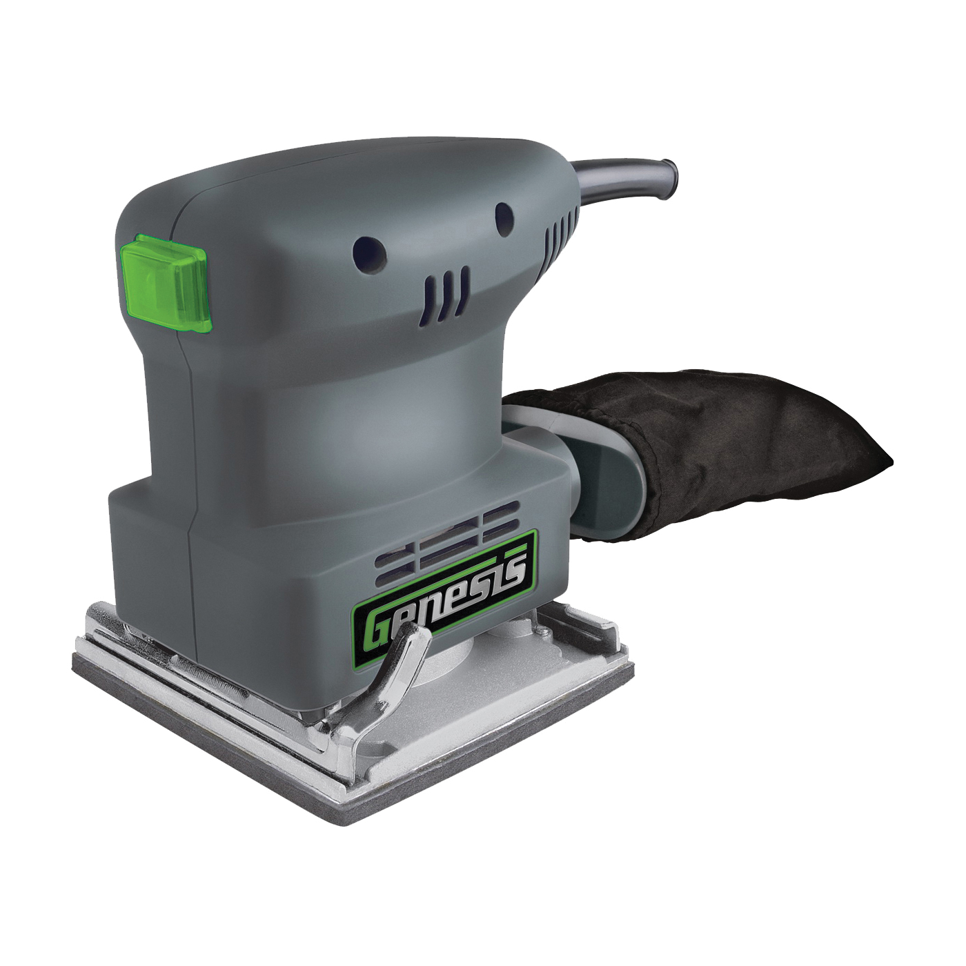 Picture of Genesis GPS2303 Palm Sander, 120 V, 1.3 A, 4-1/4 x 4 in Pad, 10000 opm No Load