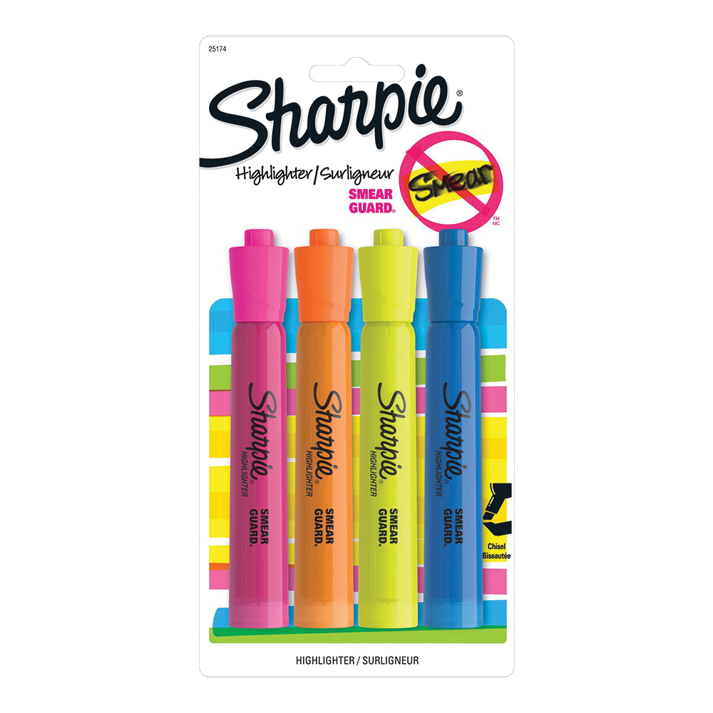 Picture of Sharpie 25174 Tank Highlighter, Chisel Lead/Tip, Assorted Lead/Tip