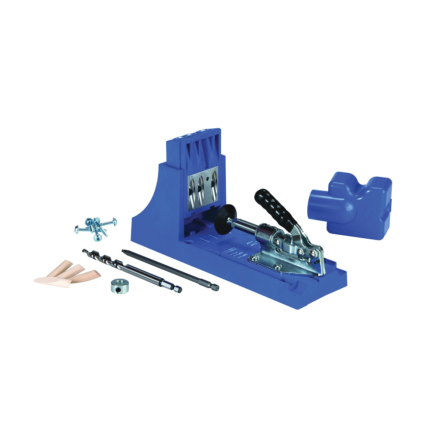 Picture of Kreg K4 Pocket-Hole Jig, 3 -Guide Hole, Glass Filled Nylon, For: 1/2 to 1-1/2 in Thick Materials