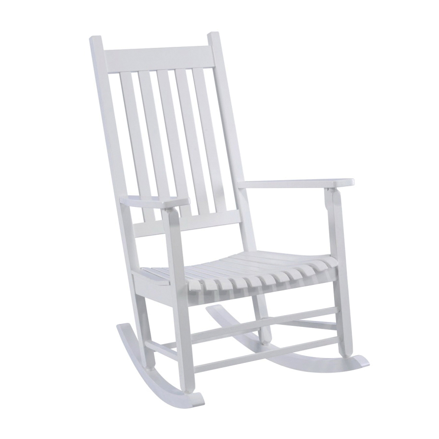Picture of Seasonal Trends KN 28W Rocking Box Chair, 250 lbs Capacity, Indonesian Hardwood Frame