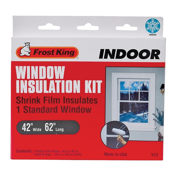 Picture of Frost King V73H Indoor Shrink Window Kit, 62 in W, Plastic
