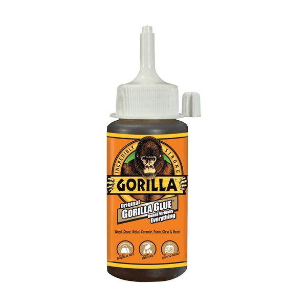 Picture of Gorilla 5000408 Glue, Brown, 4 oz Package, Bottle