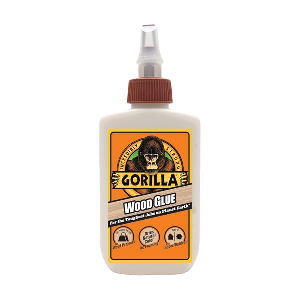 Picture of Gorilla 6202003 Wood Glue, Light Tan, 4 oz Package, Bottle