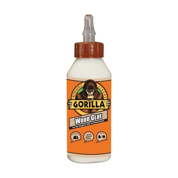 Picture of Gorilla 6200002 Wood Glue, Light Tan, 8 oz Package, Bottle